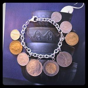 Jewelry - Sterling Roman Coin Bracelet